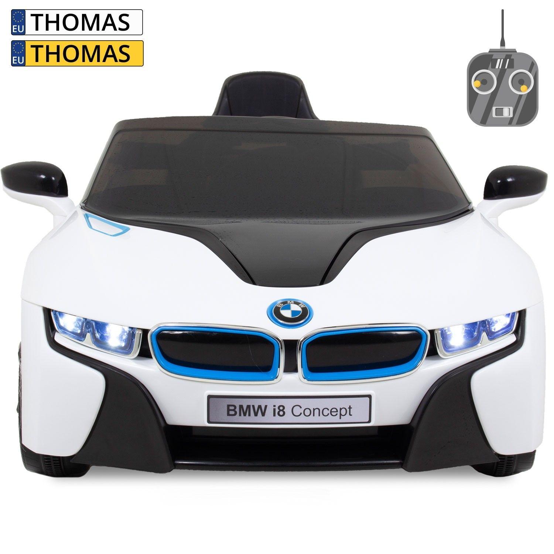 Afbeelding van BMW kinderauto i8 wit
