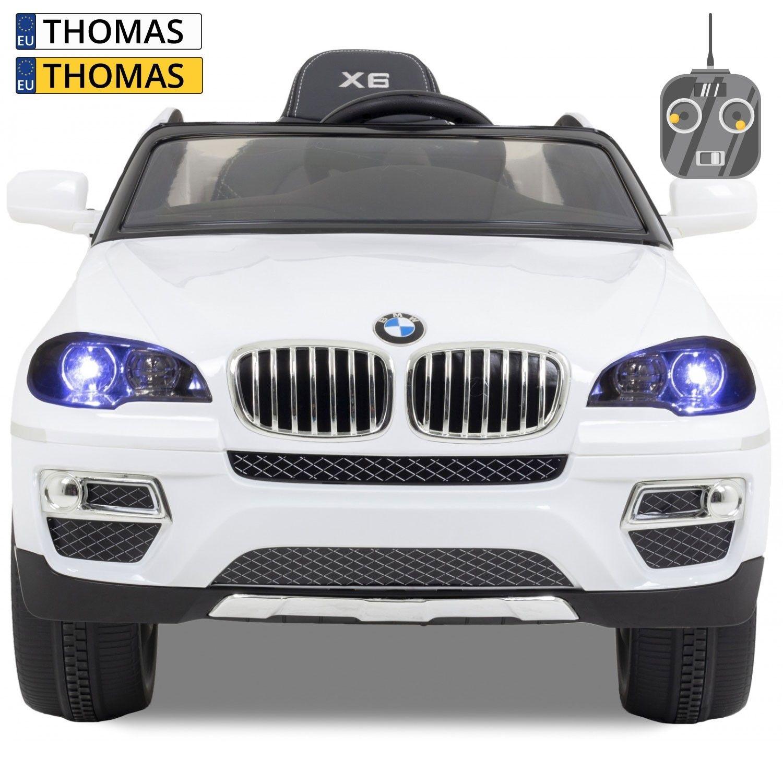 Afbeelding van BMW kinderauto X6 wit