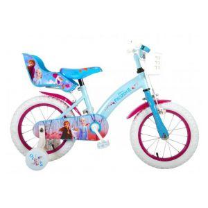 Disney Frozen 2 Kinderfiets - Meisjes - 14 inch - Blauw/Paars