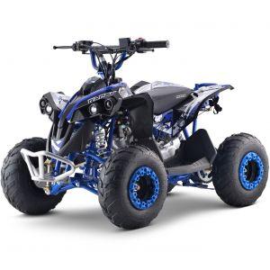 Outlaw quad op benzine 110cc automaat blauw