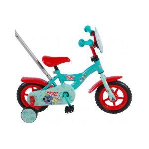 Woezel & Pip Kinderfiets - 10 inch - Blauw/Rood