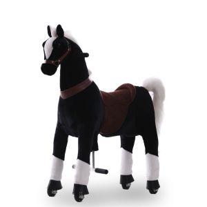 Kijana rijdend speelgoed paard zwart groot