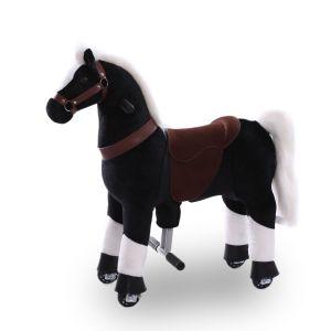 Kijana rijdend speelgoed paard zwart klein