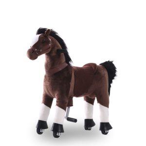 Kijana rijdend speelgoed paard chocoladebruin klein