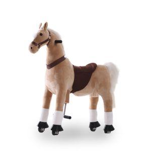 Kijana rijdend speelgoed paard beige groot