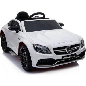 Mercedes pour enfant C63 - rose roues volant accélérateur vue de face