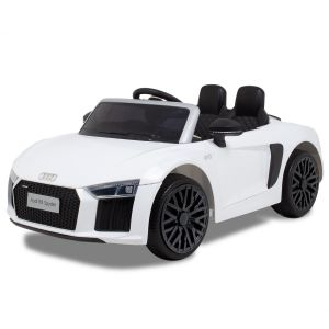 Audi elektrische kinderauto R8 cabrio wit