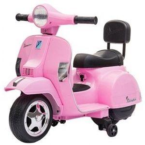 Mini vespa elektrische kinderscooter roze