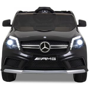 Mercedes A45 AMG kinderauto zwart vooraanzicht koplampen