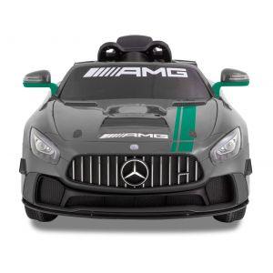Mercedes GT4 AMG kinderauto grijs vooraanzicht grill