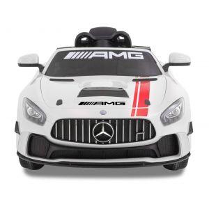 Mercedes GT4 AMG kinderauto wit vooraanzicht