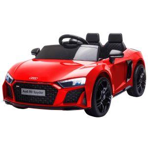Audi elektrische kinderauto R8 cabrio rood