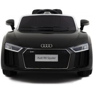 Audi R8 Spyder kinderauto zwart vooraanzicht koplampen motorkap
