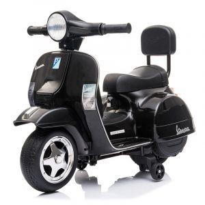 Mini Vespa elektrische kinderscooter zwart
