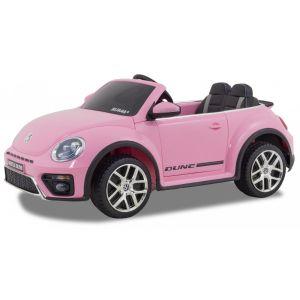 VW elektrische kinderauto Dune Beetle roze