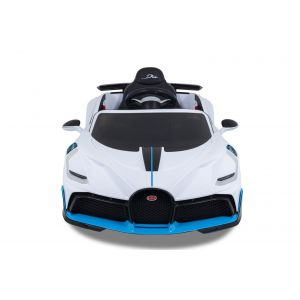 Bugatti Chiron kinderauto wit vooraanzicht zijspiegels