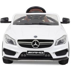 Mercedes CLA45 AMG kinderauto wit vooraanzicht koplampen
