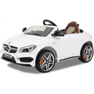 Mercedes elektrische kinderauto CLA45 AMG wit