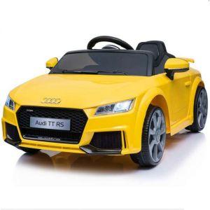 Audi elektrische kinderauto TT RS Geel
