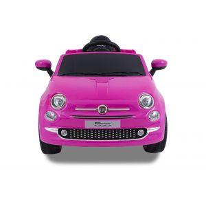 Fiat 500 kinderauto roze voorkant zijspiegels koplampen