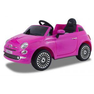 Fiat elektrische kinderauto 500 roze