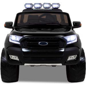 Ford Ranger kinderauto zwart vooraanzicht koplampen motorkap