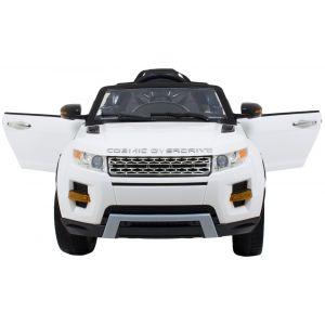 Kijana Rover kinderauto wit vooraanzicht deuren-open