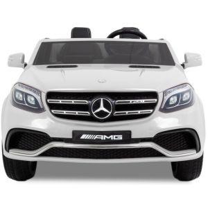 Meredes GLS AMG kinderauto wit vooraanzicht