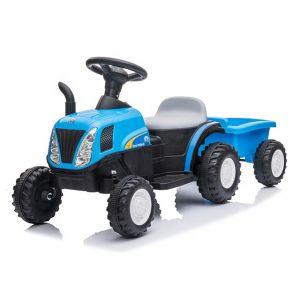 Kijana elektrische kindertractor met aanhanger blauw