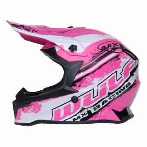 Wulfsport kinderhelm Junior Cub Off Road Pro - roze