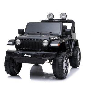 Jeep elektrische kinderauto Wrangler zwart