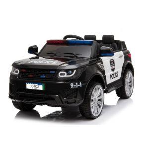 Kijana politie elektrische kinderauto Land Rover zwart