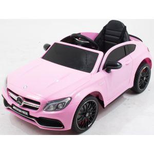 Mercedes elektrische kinderauto C63 AMG roze