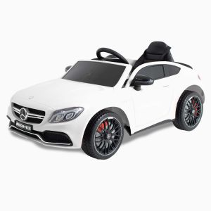 Mercedes elektrischekinderauto C63 AMG wit