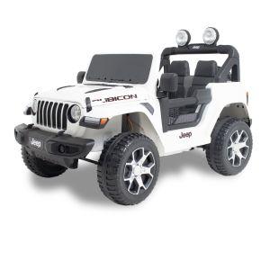 Jeep elektrische kinderauto Wrangler rubicon wit