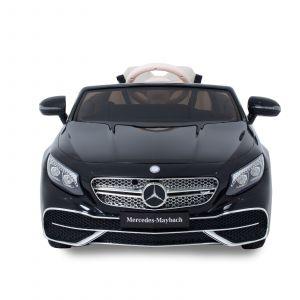 Mercedes Maybach S650 kinderauto zwart vooraanzicht zijspiegels