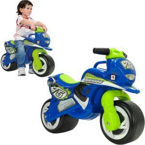 Injusa loopmotor blauw groen kindermotor