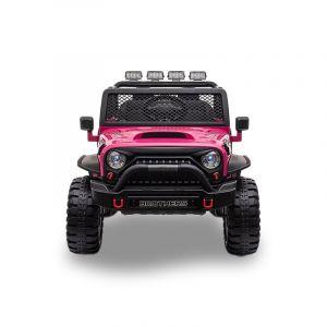 Monster Jeep 4x4 kinderauto zwart voorlichten