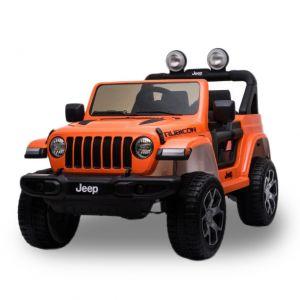 Jeep elektrische kinderauto Wrangler Rubicon oranje
