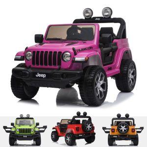 Jeep elektrische kinderauto Wrangler rubicon Roze