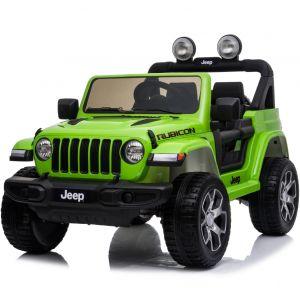 Jeep elektrische kinderauto Wrangler rubicon groen