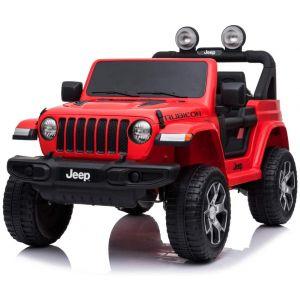 Jeep elektrische kinderauto Wrangler Rubicon rood