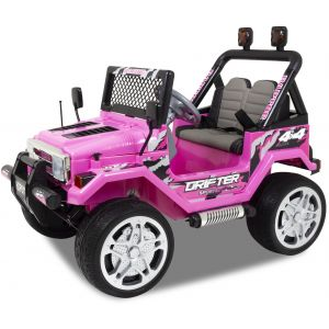 Jeep elektrische kinderauto roze