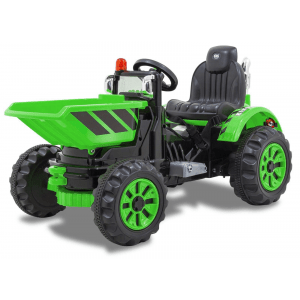 Kijana elektrische tractor met bak groen