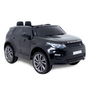 Land Rover Discovery kinderauto zwart zijaanzicht banden velgen voorkant
