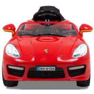 Speedster kinderauto rood voorkant koplampen