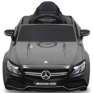 Mercedes C63 AMG kinderauto zwart vooraanzicht motorkap
