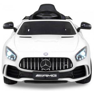 Mercedes GTR kinderauto wit vooraanzicht