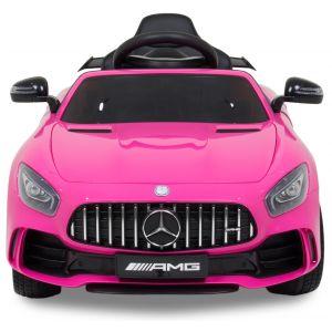 Mercedes GTR kinderauto roze vooraanzicht
