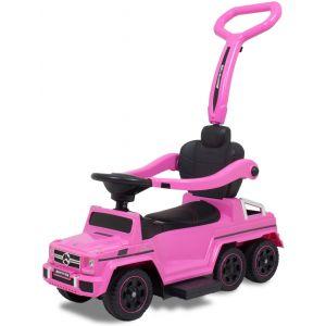 Mercedes G-klasse loopauto roze vooraanzicht